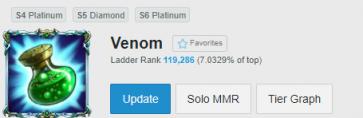 "NA Summoner Name ""Venom"""