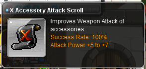 X Accessory Attack Scroll